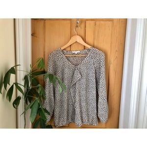 ✨2 for $22 Cleo Patterned Blouse w Elastic Waist